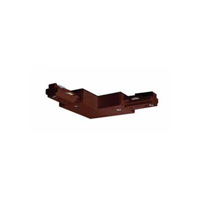 L Track Light Connector in Brown