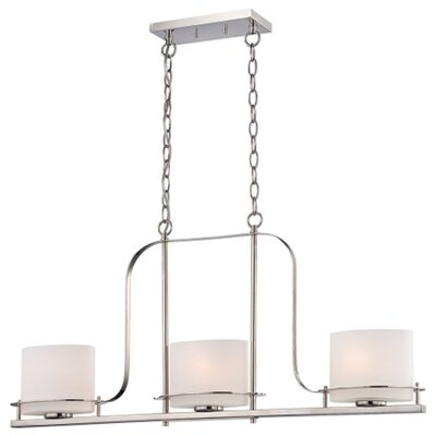 Loren 3-Light Kitchen Island Pendant Finish: Polished Nickel