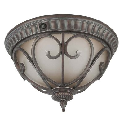 Corniche 2-Light Flush Mount Energy Star Compliant: Yes