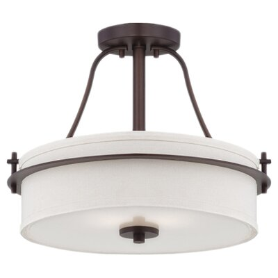 Loren 2-Light Semi Flush Mount Finish: Venetian Bronze