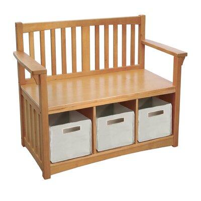 New Mission Wood Storage Bench
