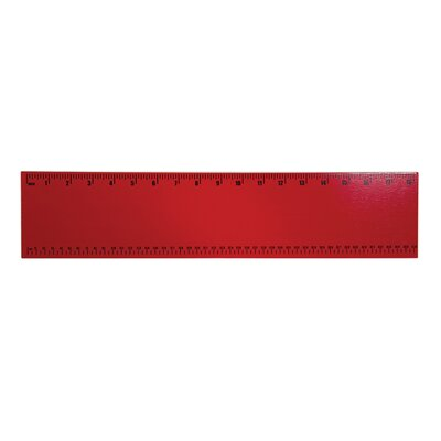 Ruler Wall Plaque	 Color: Red