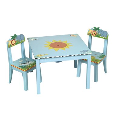 Baby Table  Chair on Guidecraft Safari Kids  Table And Chair Set