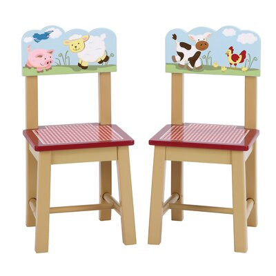 Farm Friends Kids 2 Piece Kids Desk Chair Set G86703