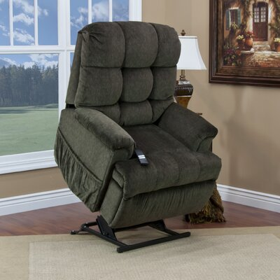 5555 Series Sleeper Power Lift Assist Recliner Upholstery: Cabo - Sage