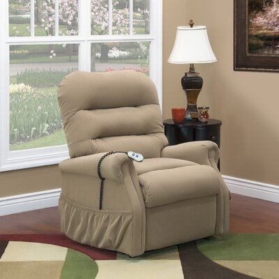 30 Series Lift Assist Recliner Upholstery: Aaron - Light Brown