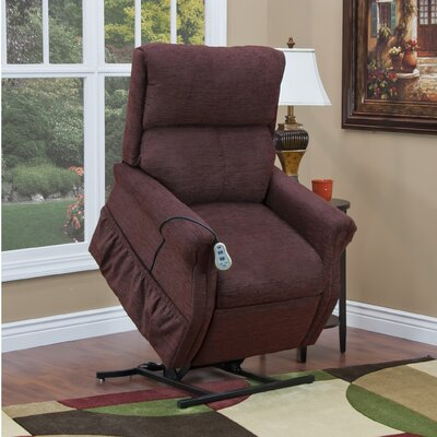 1100 Series Medium 2 Position Lift Chair Upholstery: Wine, Moveable Infrared Heat: No