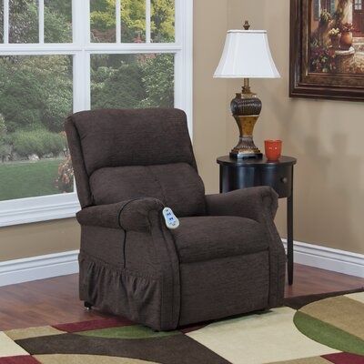 1100 Series Power Lift Assist Recliner Upholstery: Chocolate, Moveable Infrared Heat: No