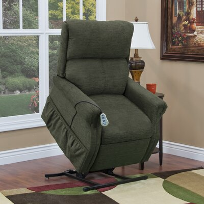 1100 Series Power Lift Assist Recliner Upholstery: Pine, Moveable Infrared Heat: No