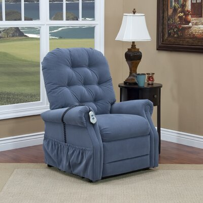 25 Series Lift Assist Recliner Upholstery: Aaron - Williamsburg Blue