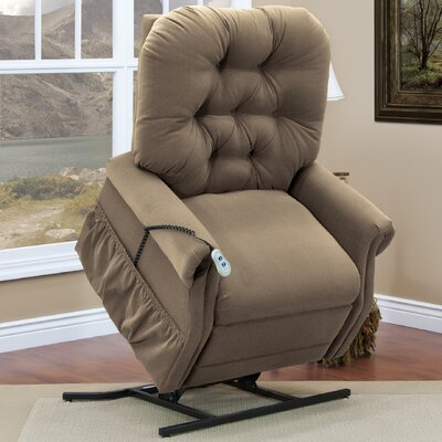35 Series Two-Way Reclining Lift Chair Vibration and Heat: 6 Vib / Heat, Moveable Infrared Heat: No, Upholstery: Aaron - Cocoa