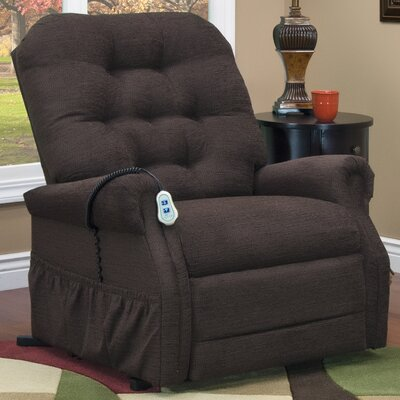 35 Series Power Lift Assist Recliner Upholstery: Encounter - Chocolate, Vibration and Heat: None, Moveable Infrared Heat: Yes