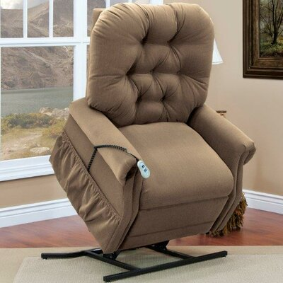 35 Series Power Lift Assist Recliner Upholstery: Aaron - Light Brown, Vibration and Heat: None, Moveable Infrared Heat: Yes