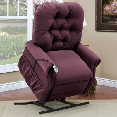 35 Series Power Lift Assist Recliner Upholstery: Aaron - Berry, Vibration and Heat: None, Moveable Infrared Heat: Yes