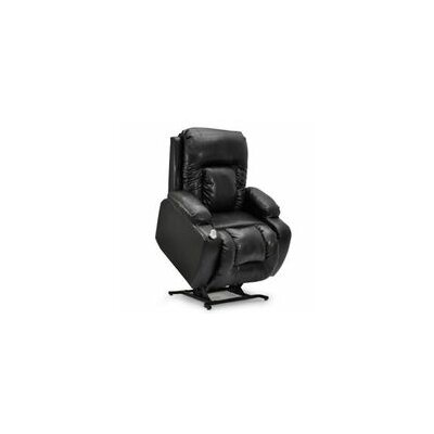 Showtime Wide Wall-a-Way Reclining Lift Chair Upholstery: Black
