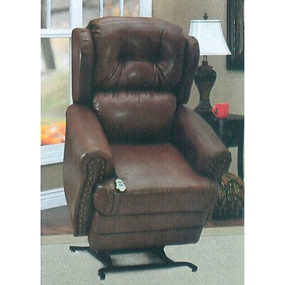 Power Lift Assist Recliner Upholstery: Bonded Leather - Oxblood
