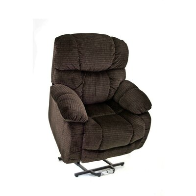 Med-Lift 5900 Series Sleeper / Reclining Lift Chair -Moveable Infrared Heat:No, Vibration & Heat:None, Upholstery:Suede Crypton -Blue Cur