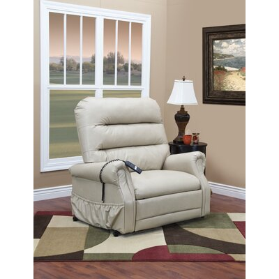 36 Series Power Lift Assist Recliner Upholstery: Apollo - Ivory Vinyl, Vibration and Heat: None, Moveable Infrared Heat: No