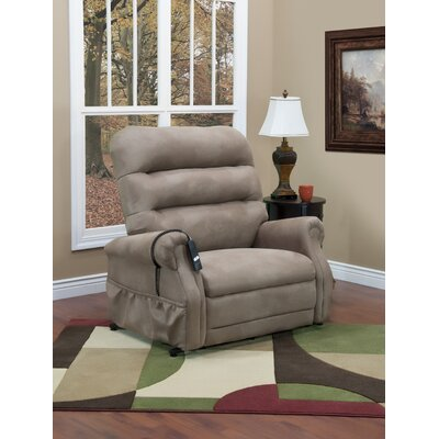 36 Series Power Lift Assist Recliner Upholstery: Stampede - Mocha, Vibration and Heat: 4 Vib/Heat, Moveable Infrared Heat: No