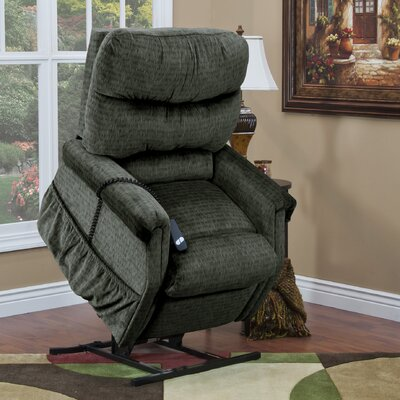 1100 Series 3 Position Lift Chair with Heat Upholstery: Sage