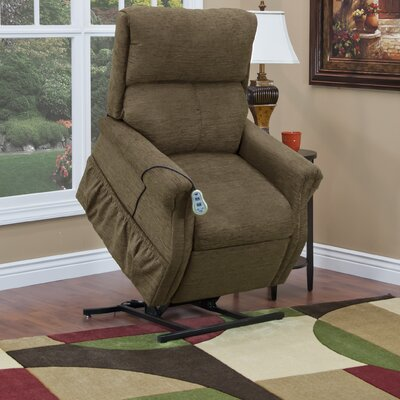 1100 Series Power Lift Assist Recliner Upholstery: Mushroom, Moveable Infrared Heat: No