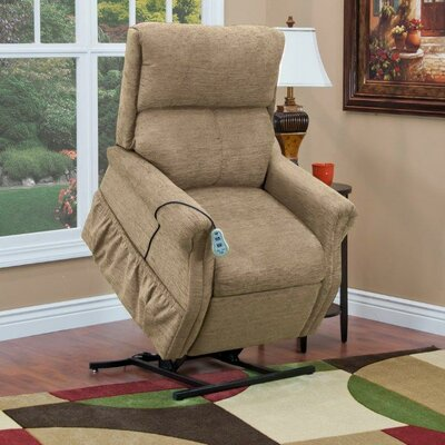 1100 Series Power Lift Assist Recliner Upholstery: Khaki, Moveable Infrared Heat: No