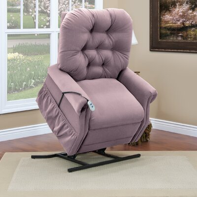 35 Series Two-Way Reclining Lift Chair Upholstery: Aaron - Mauve, Moveable Infrared Heat: No, Vibration and Heat: None