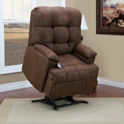 5600 Series Power Lift Assist Recliner Upholstery: Stampede - Tanner, Vibration and Heat: 6 Vib/Heat, Moveable Infrared Heat: Yes
