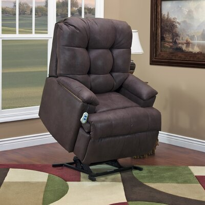 5600 Series Wall-a-Way Reclining Lift Chair Upholstery: Stampede - Chocolate, Moveable Infrared Heat: Yes, Vibration and Heat: None