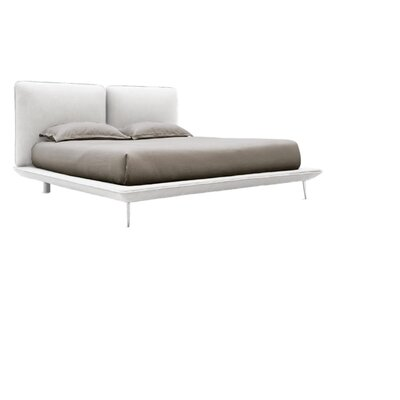 Taylor Upholstered Platform Bed Size: Queen, Upholstery: White
