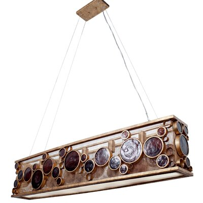 Fascination HO 5-Light Kitchen Island Pendant Finish: Kolorado
