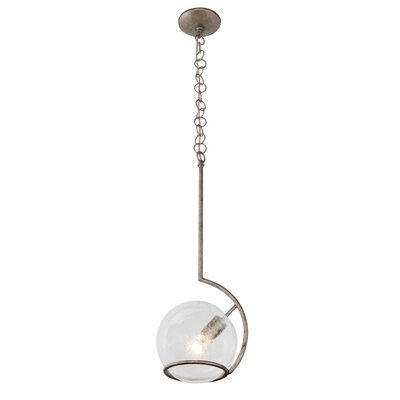 Watson 1-Light Globe Pendant Finish: Silver Age
