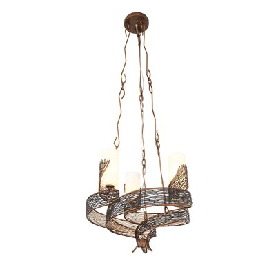 Flow 3-Light Shaded Chandelier Finish: Hammered Ore