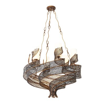 Flow 6-Light Shaded Chandelier Finish: Hammered Ore