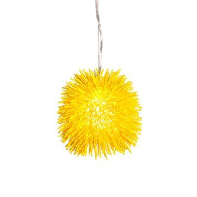 Urchin 1-Light Foyer Globe Pendant Size: 10 H x 9 W x 9 D, Finish: Un-Mellow Yellow