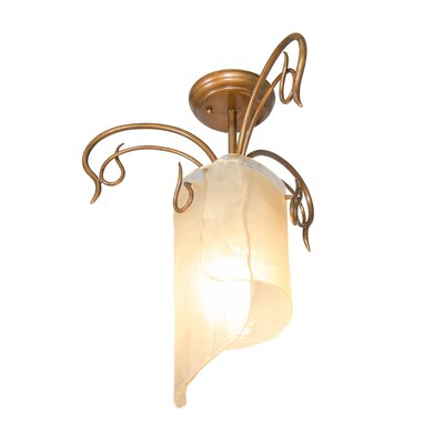Recycled Soho Semi Flush Mount Ceiling Light Finish: Hammered Ore