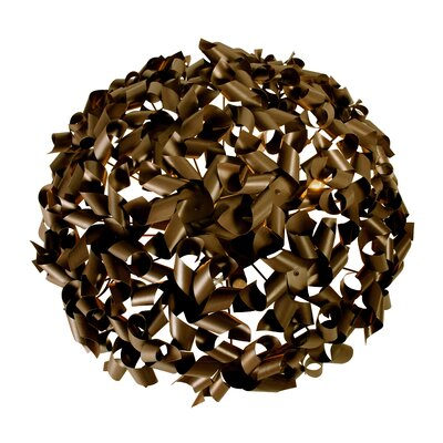 Pinwheel 8-Light Flush Mount Finish: Bronze