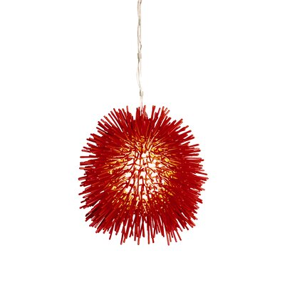 Urchin Mini Pendant in Super Red