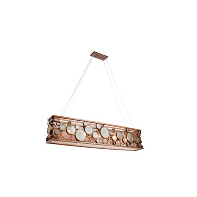 Fascination HO 5-Light Kitchen Island Pendant Finish: Hammered Ore