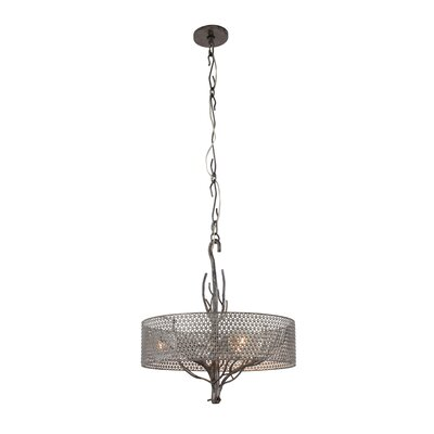 Treefold 3-Light Drum Pendant