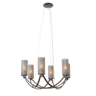 Casablanca 6-Light Shaded Chandelier Color: Steel