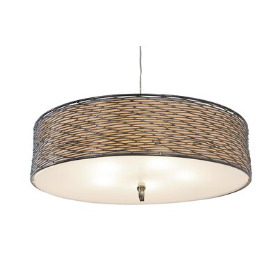 Flow 5-Light Drum Pendant Finish: Hammered Ore
