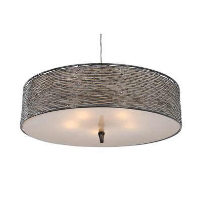 Flow 5-Light Drum Pendant Finish: Steel