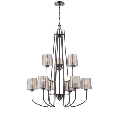 Meridian 9-Light Shaded Chandelier