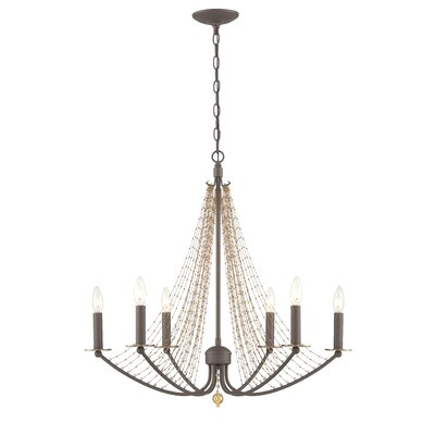 Swept Away 6-Light Candle-Style Chandelier