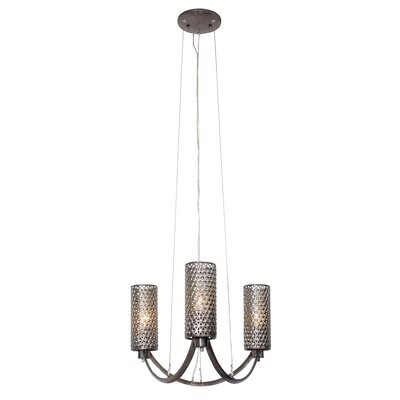 Casablanca 3-Light Shaded Chandelier Color: Steel