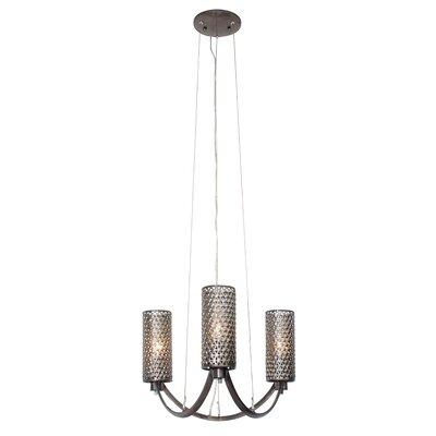 Casablanca 3-Light Shaded Chandelier Color: Steel