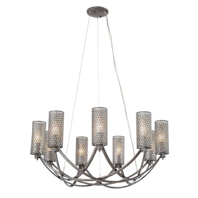 Casablanca 9-Light Shaded Chandelier Color: Steel