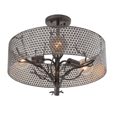Treefold 3-Light Semi Flush Mount