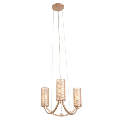 Casablanca 3-Light Shaded Chandelier Color: Gold